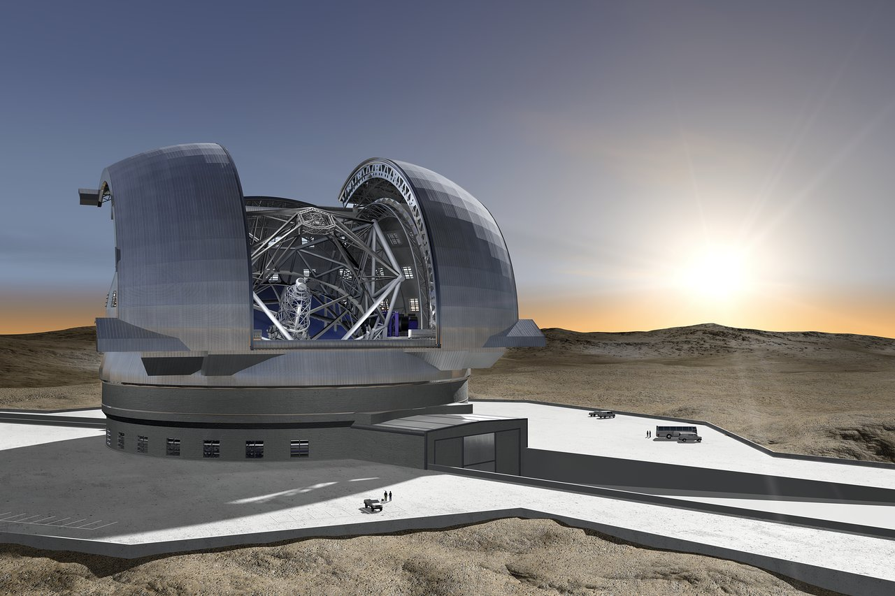 Artist's impression of the European Extremely Large Telescope. Credit: ESO/H.Zodet