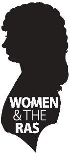 Silhouette of a woman and the words Women and the RAS