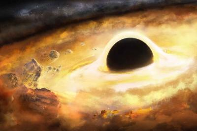 Artistic rendering of a black hole