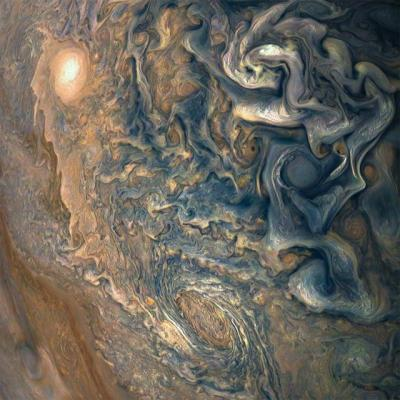 Close up image of Jupiter's atmosphere