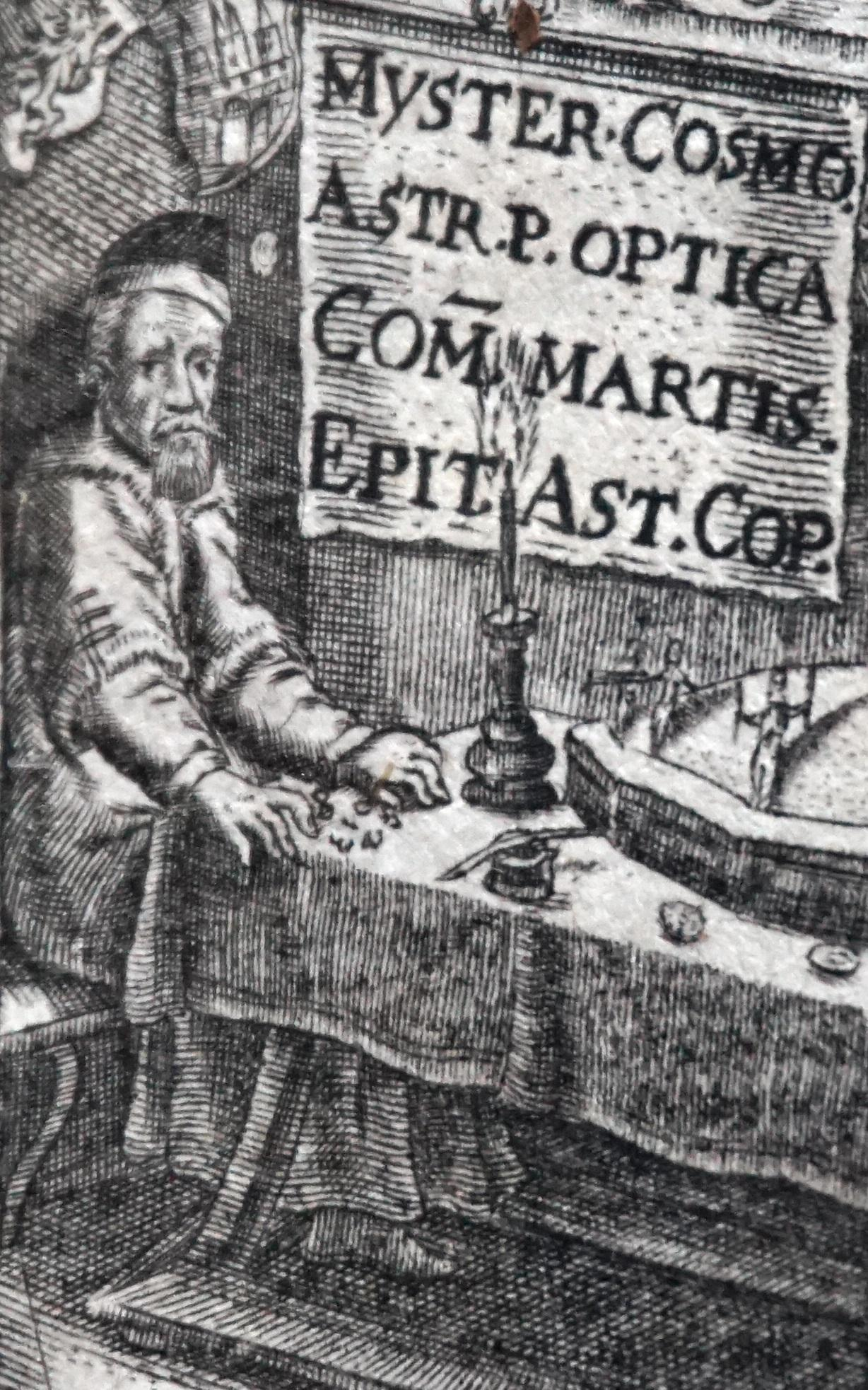 Portrait of Kepler from the frontispiece of Astronomia Nova