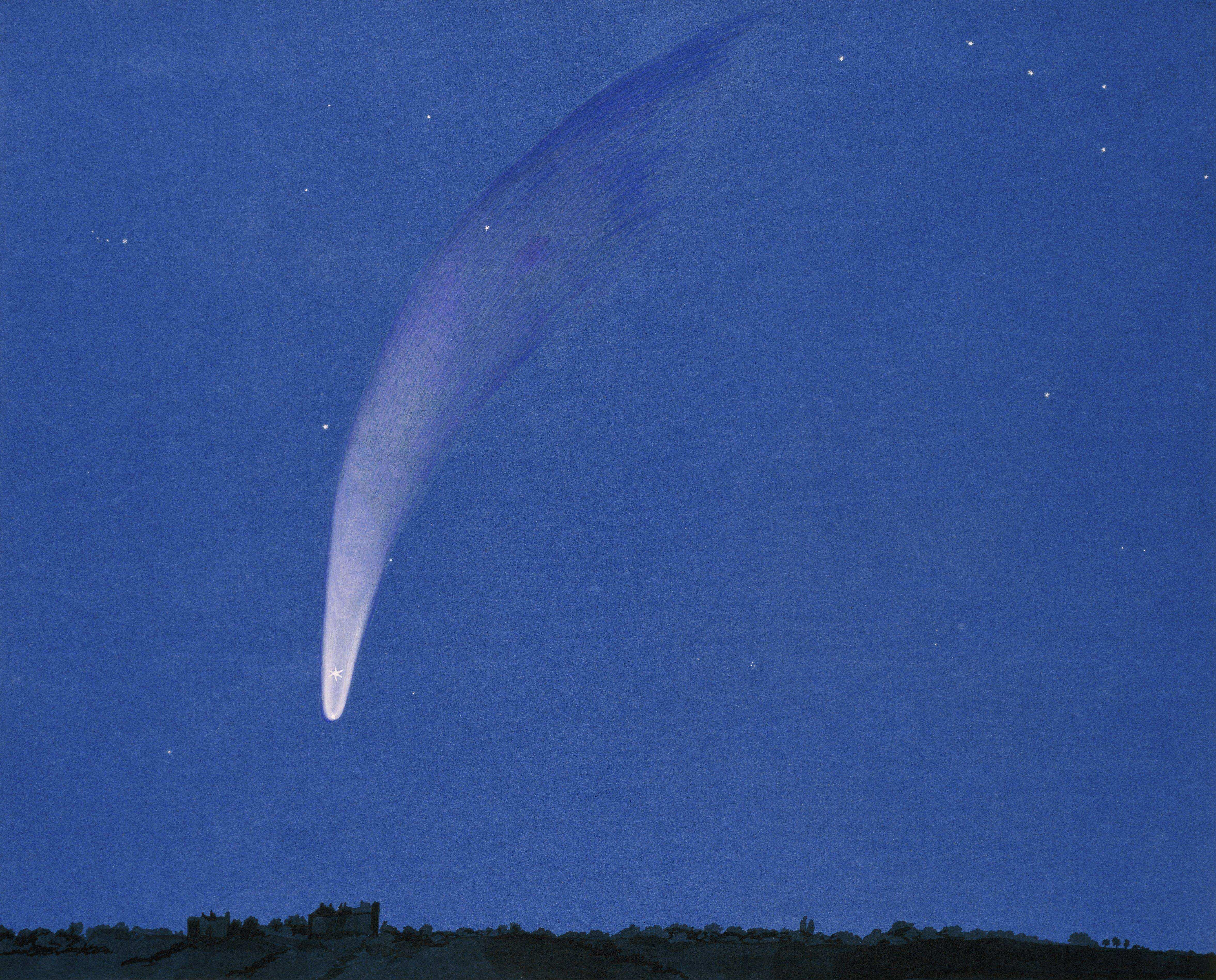Donati's comet by Griesbach