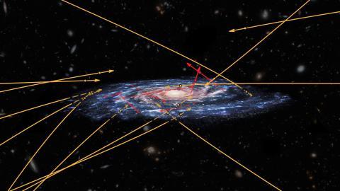 Stjerners bane i Mælkevejens koma