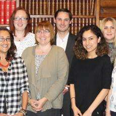 Image of the RAS editorial team in the Council Room at Burlington House