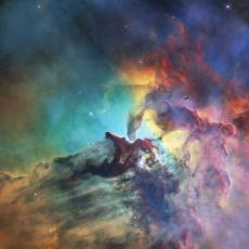 An image of the Lagoon Nebula taken by HST