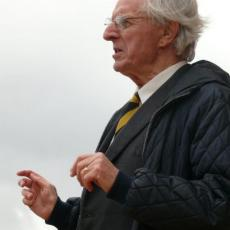 Sir Arnold Wolfendale opening the Kielder Observatory in 2008