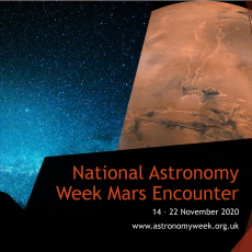 National Astronomy Week announcement for a Mars event