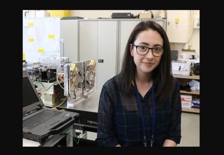 Eimear Gallagher at the Rutherford Appleton Laboratory