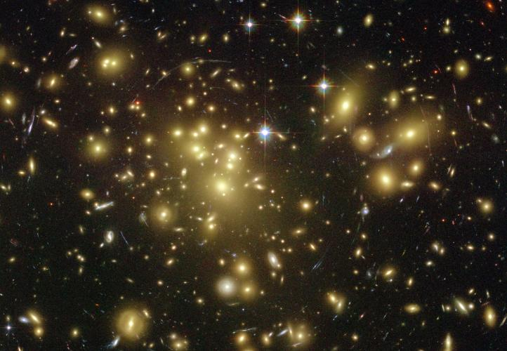 Image showing the galaxy cluster Abell1689. Credit: NASA/ESA