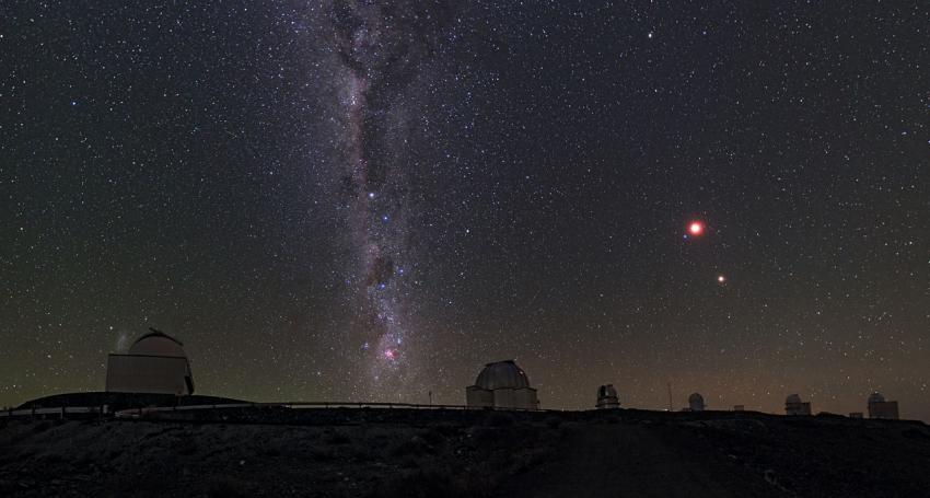 ESO night sky above La Silla observatory in Chile