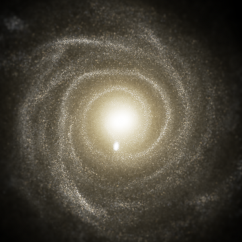 Face-on image of a spiral galaxy