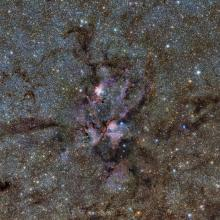 Image of a stellar nursery in the Lobster Nebula (NGC6357)