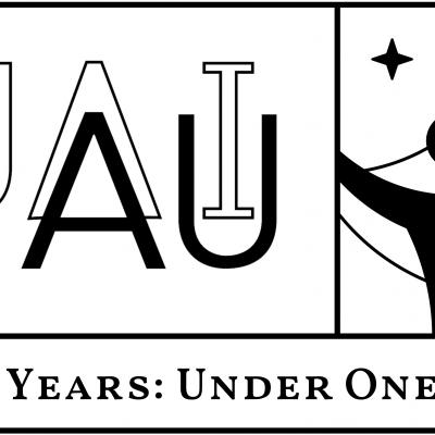 Logo for the celebration of 100 years of the International Astronomical Union 1919-2019